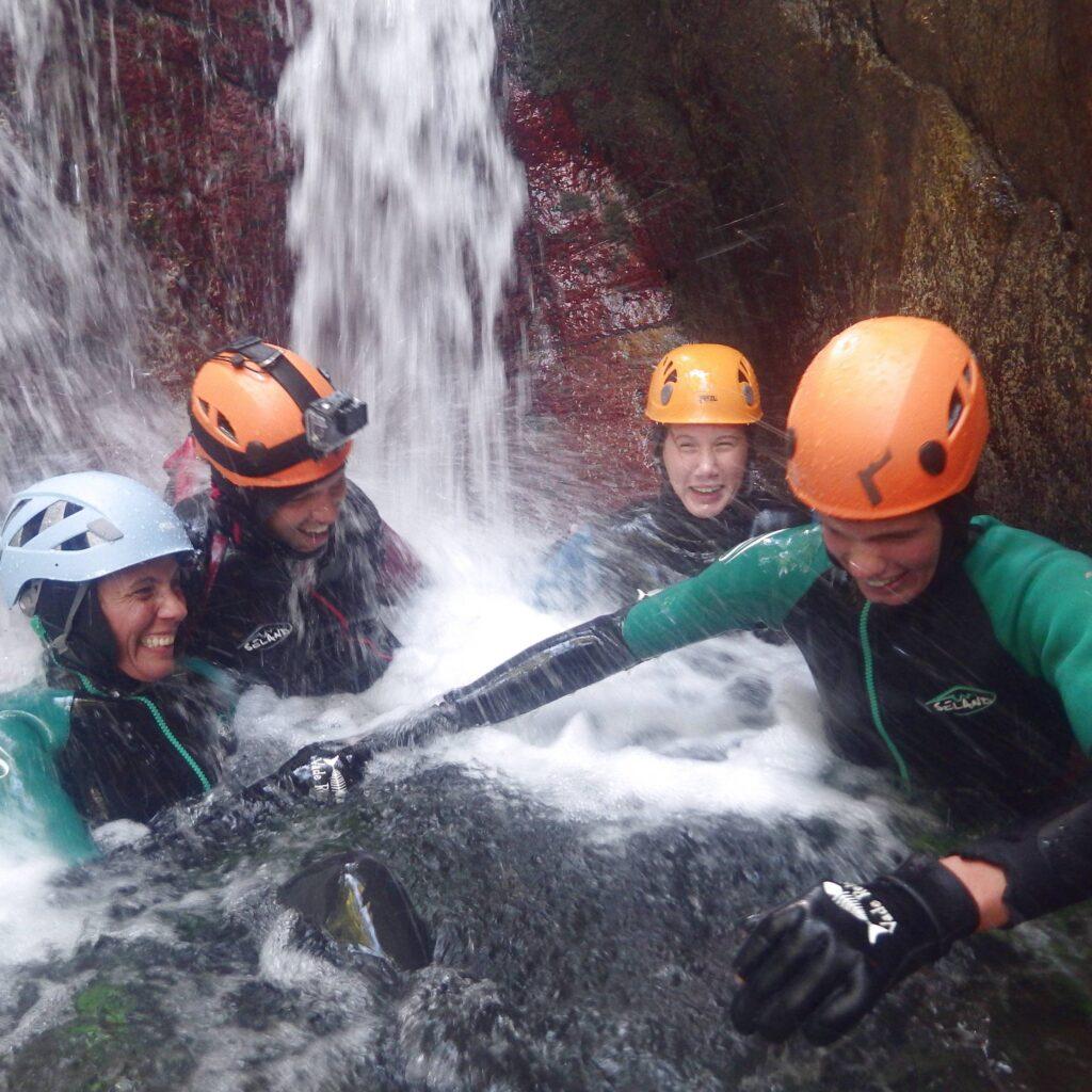 Canyoning en famille en Vallée d'Ossau