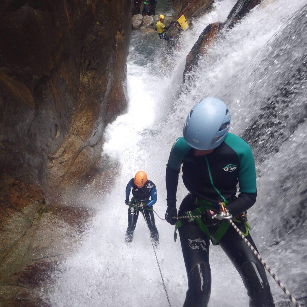 Canyoning avec un guide près de Gourette