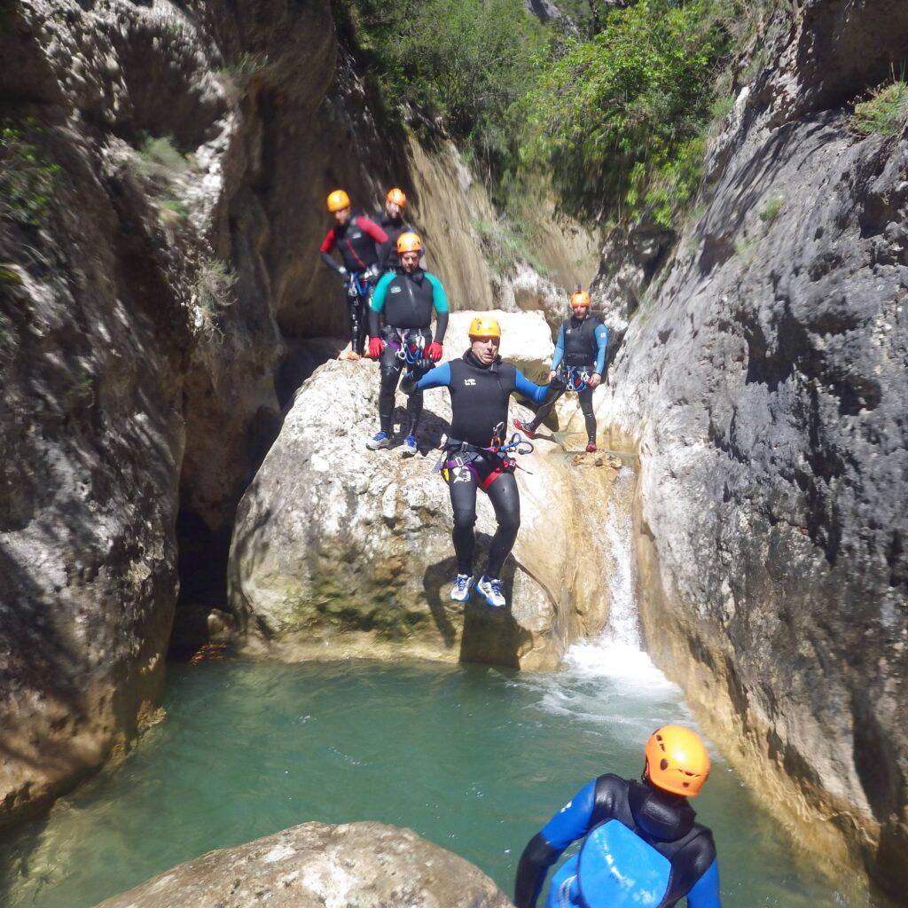 WE canyoning en Espagne avec Aqua Vertige