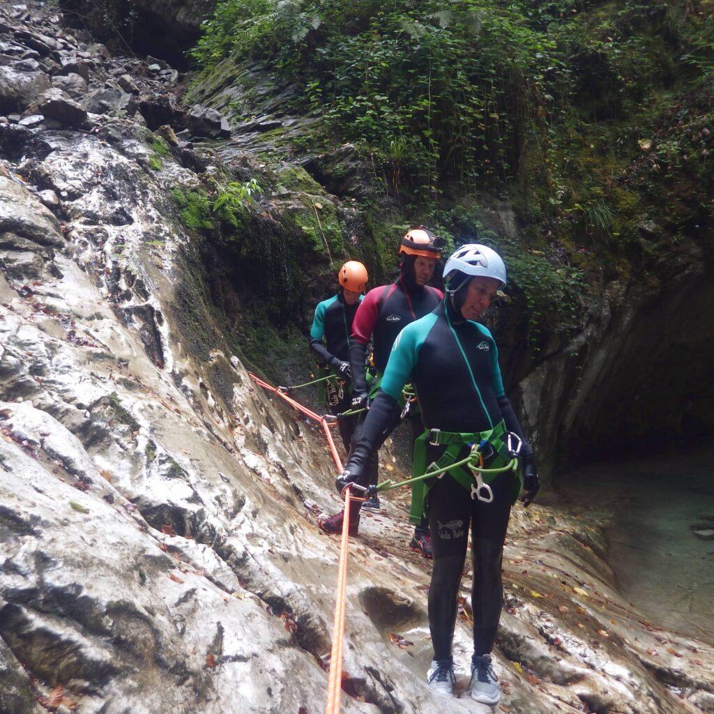 Parcours de canyoning sportif : le Bitet