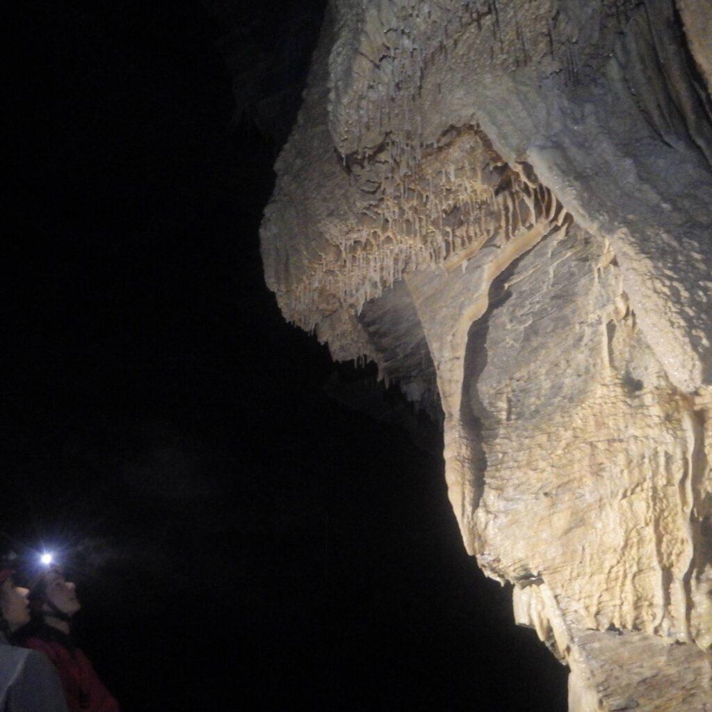 Stalactites dans la grotte des Eaux Chaudes en Vallée d'Ossau