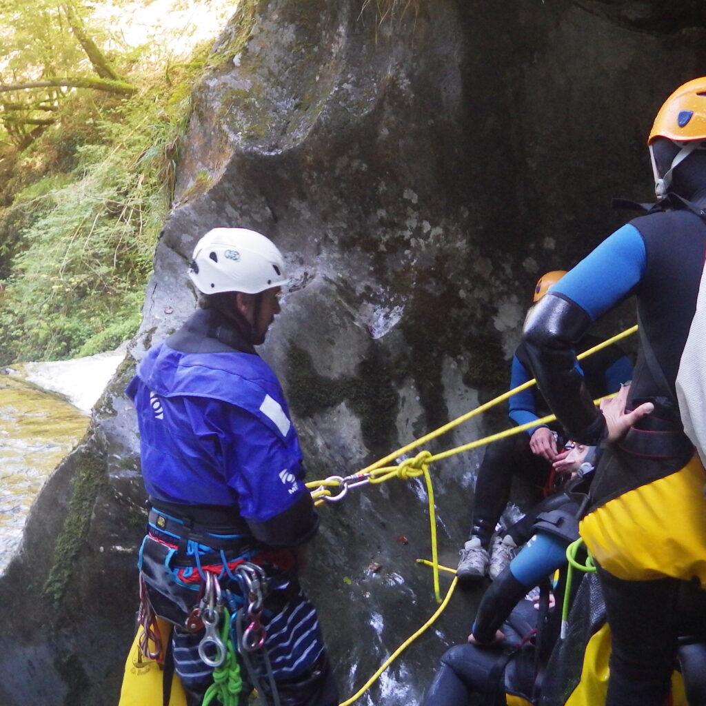 Stage de formation à la descente de canyons